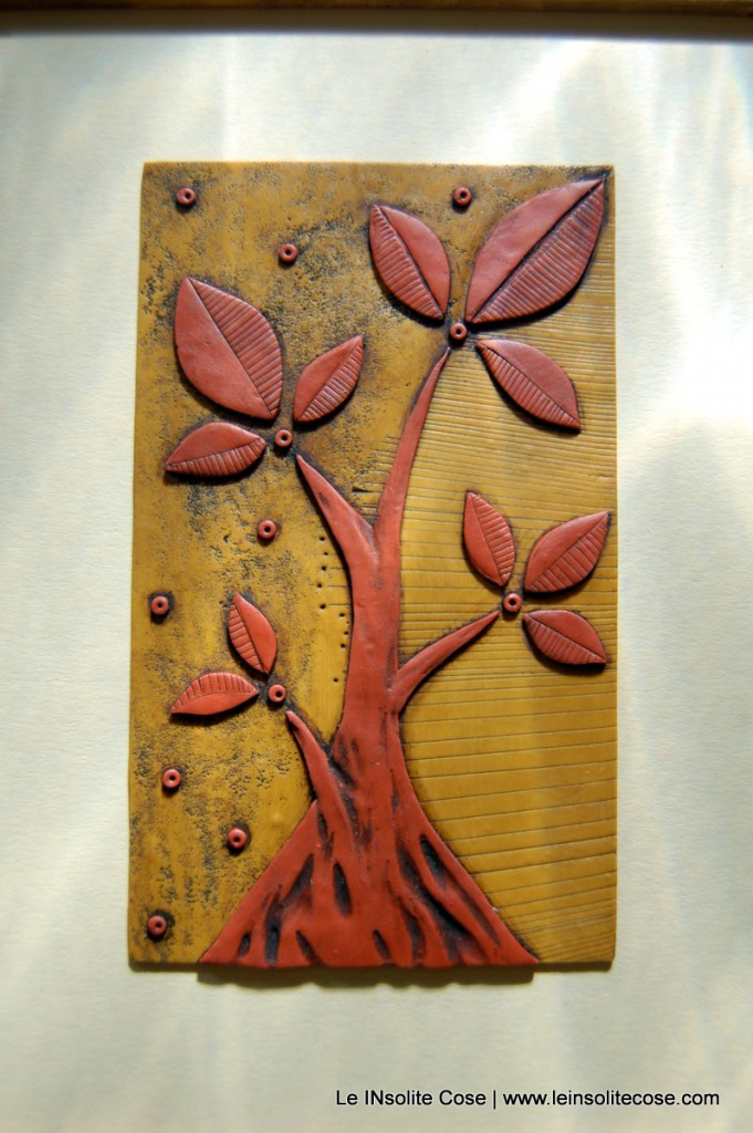 albero nostro ocra e terracotta, con cornice - Le INsolite Cose 2015 (7)