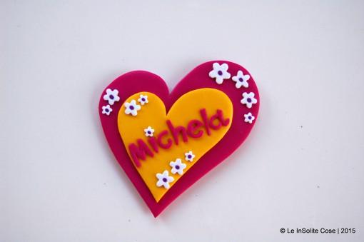 Calamita cuore personalizzata con nome – un pensiero