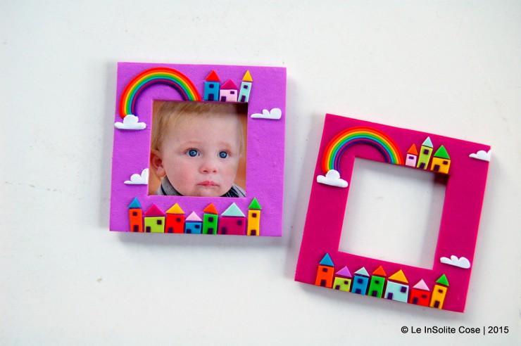 Cornici portafoto con arcobaleno personalizzate - le INsolite Cose (1)