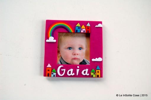 Cornice portafoto arcobaleno, personalizzata con nome