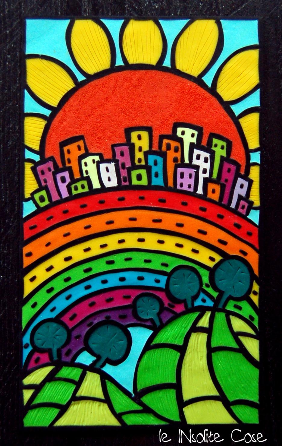 Tavolette arcobaleno percorribile senza divieto di sosta - Quadro porta calamite ...