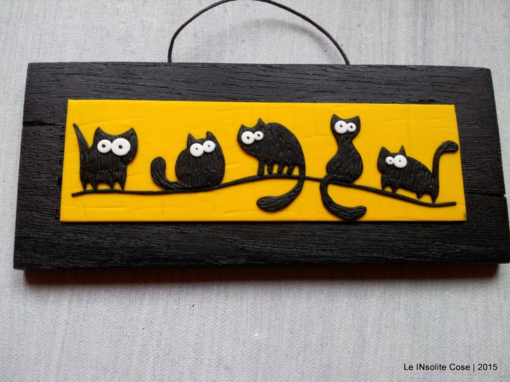 Quadretti gatti neri - con topo -  orizzontali - Le INsolite Cose 2015  (3)