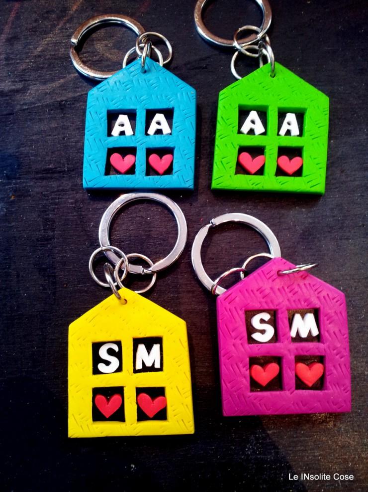 Portachiavi casette personalizzato con iniziali - le INsolite Cose (4)