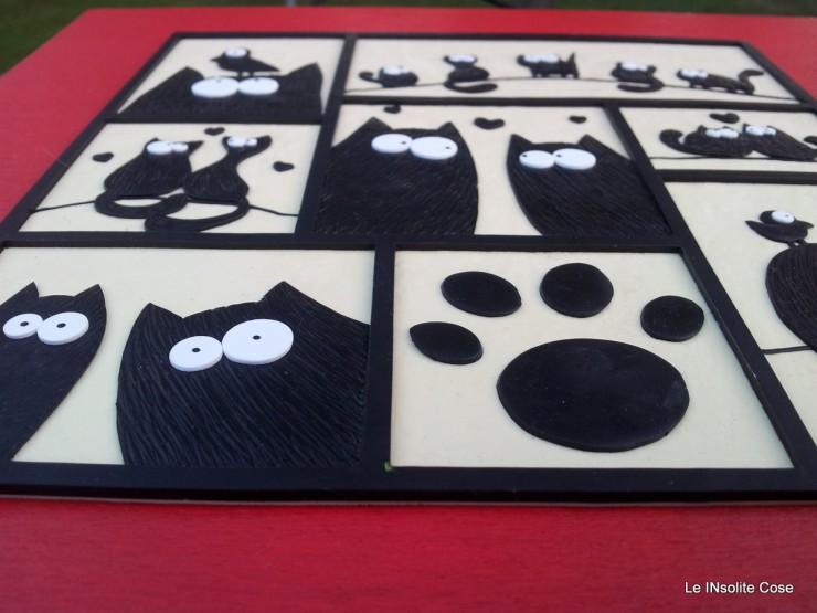 Tavoletta gatti -. The Lovecats - 28x28 - Le INsolite Cose 2015 (3)