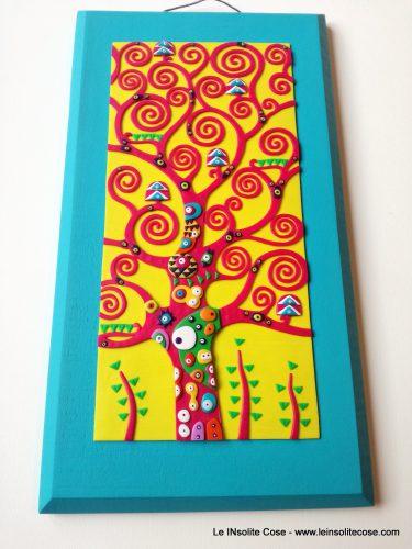 Albero della Vita di Klimt – Fucsia, Giallo e Turchese!