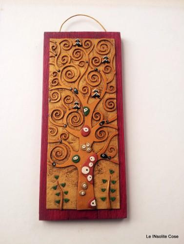 Albero della Vita di Klimt – Versione ridotta con legno rosso