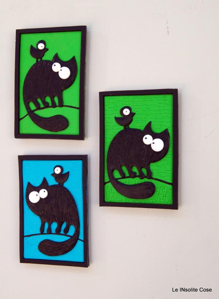 Calamita gatto nero con uccellino sulla schiena - Le INsolite Cose 2015 (2)