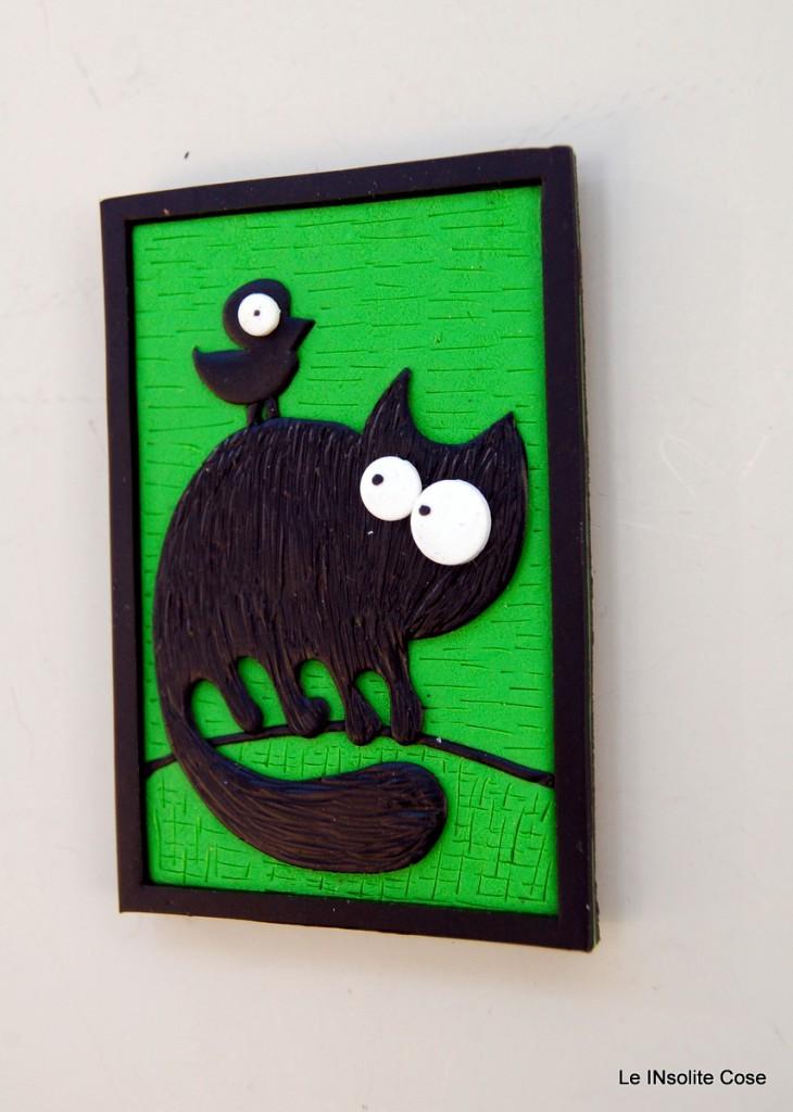 Calamita gatto nero con uccellino sulla schiena - Le INsolite Cose 2015 (4)