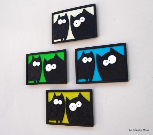 Calamite Coppia di Gatti neri in primo piano – 2015