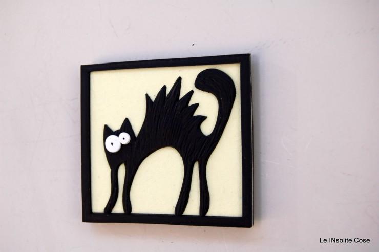Calamite gatto nero arruffato con uccellino - o senza - Le INsolite Cose 2015 (3)