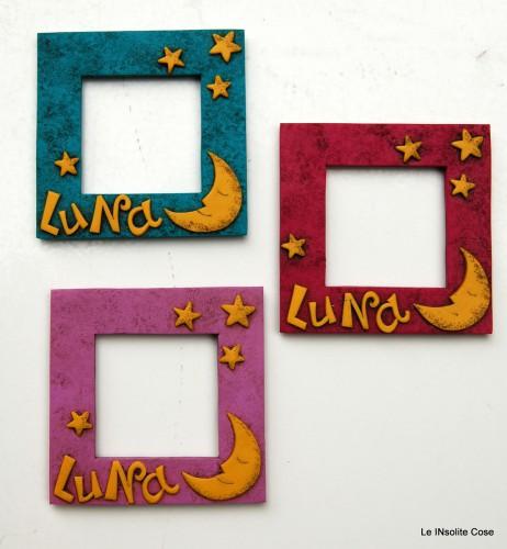 Cornici Portafoto personalizzate con Nome e Luna – Primo compleanno
