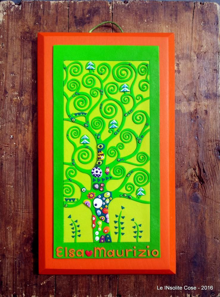 Albero della Vita di Klimt personalizzato con nomi per Elsa e Maurizio - le INsolite Cose 2016 (4)