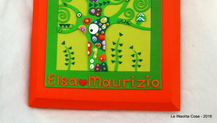 Albero della Vita di Klimt personalizzato con nomi per Elsa e Maurizio - le INsolite Cose 2016 (5)