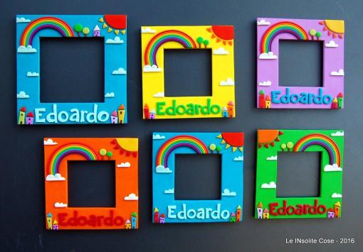 Cornici portafoto personalizzate con nome, bomboniere per Edoardo