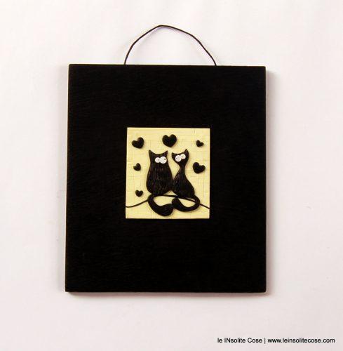 Tavoletta piccoli Gatti Neri Innamorati – Luglio 2016