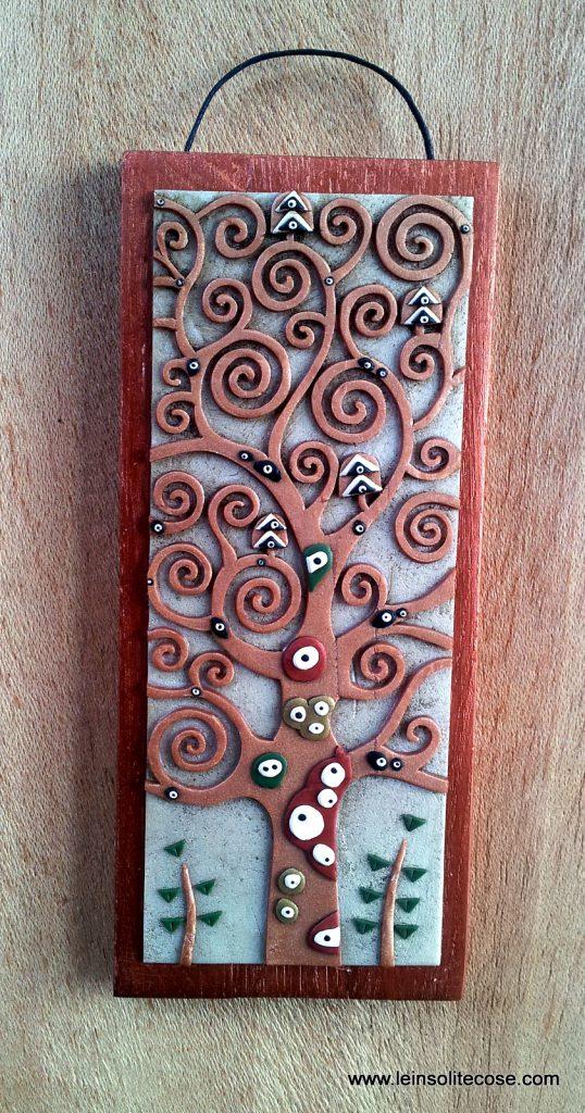 Albero della Vita di Klimt ridotto color Rame su Madreperla - le INsolite Cose 2016 (1)
