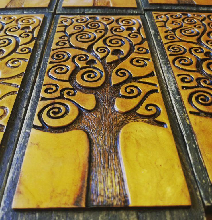 Regalo originale per i testimoni di nozze; albero della vita artigianale