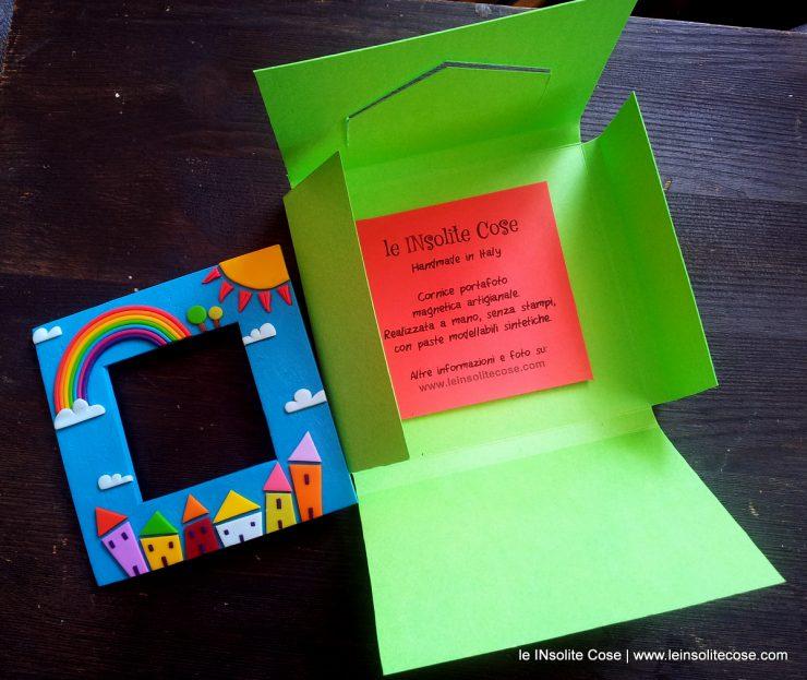 Cornici magnetiche portafoto con arcobaleno sole nuvole - Quadro porta calamite ...