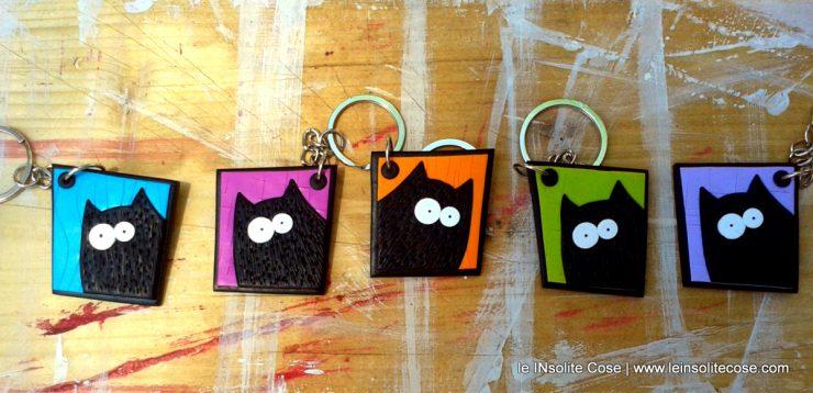Portachiavi Gatto nero stilizzato - le INsolite Cose 2016 (3)