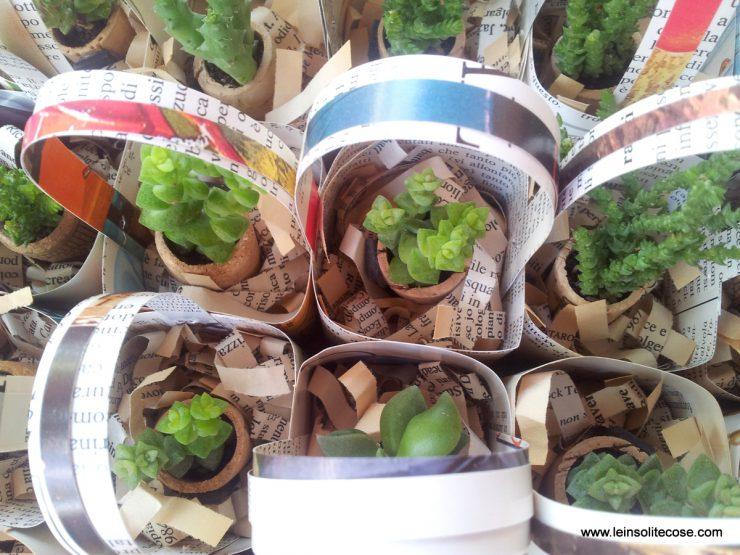 mini cestini in carta riciclata per piante in tappo di sughero - le INsolite Cose 2016 (10)