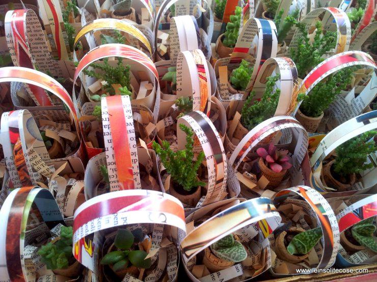 mini cestini in carta riciclata per piante in tappo di sughero - le INsolite Cose 2016 (11)