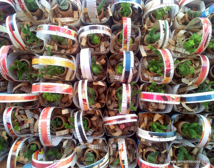 mini cestini in carta riciclata per piante in tappo di sughero - le INsolite Cose 2016 (6)
