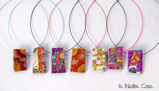 "Ciondoli in pasta polimerica serie ""Doodling"" – Colorati"