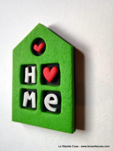 Calamite a Casina con Cuori e scritte LOVE o Home
