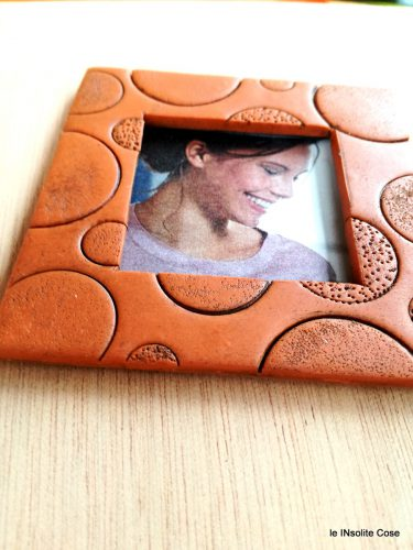 Calamite portafoto magnetiche in finta terracotta (o finta pelle)
