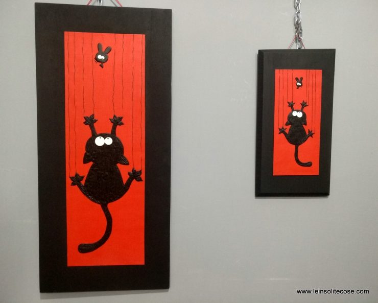 Gatto nero cade: le due dimensioni a confronto.