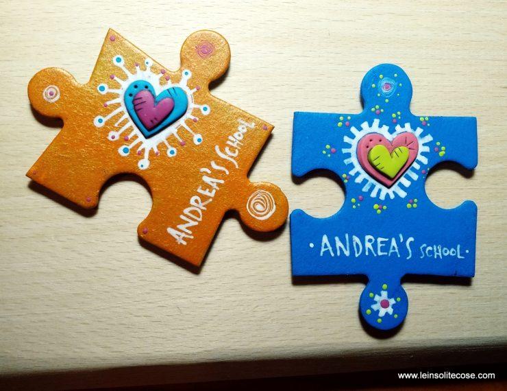 calamite con pezzi di puzzle