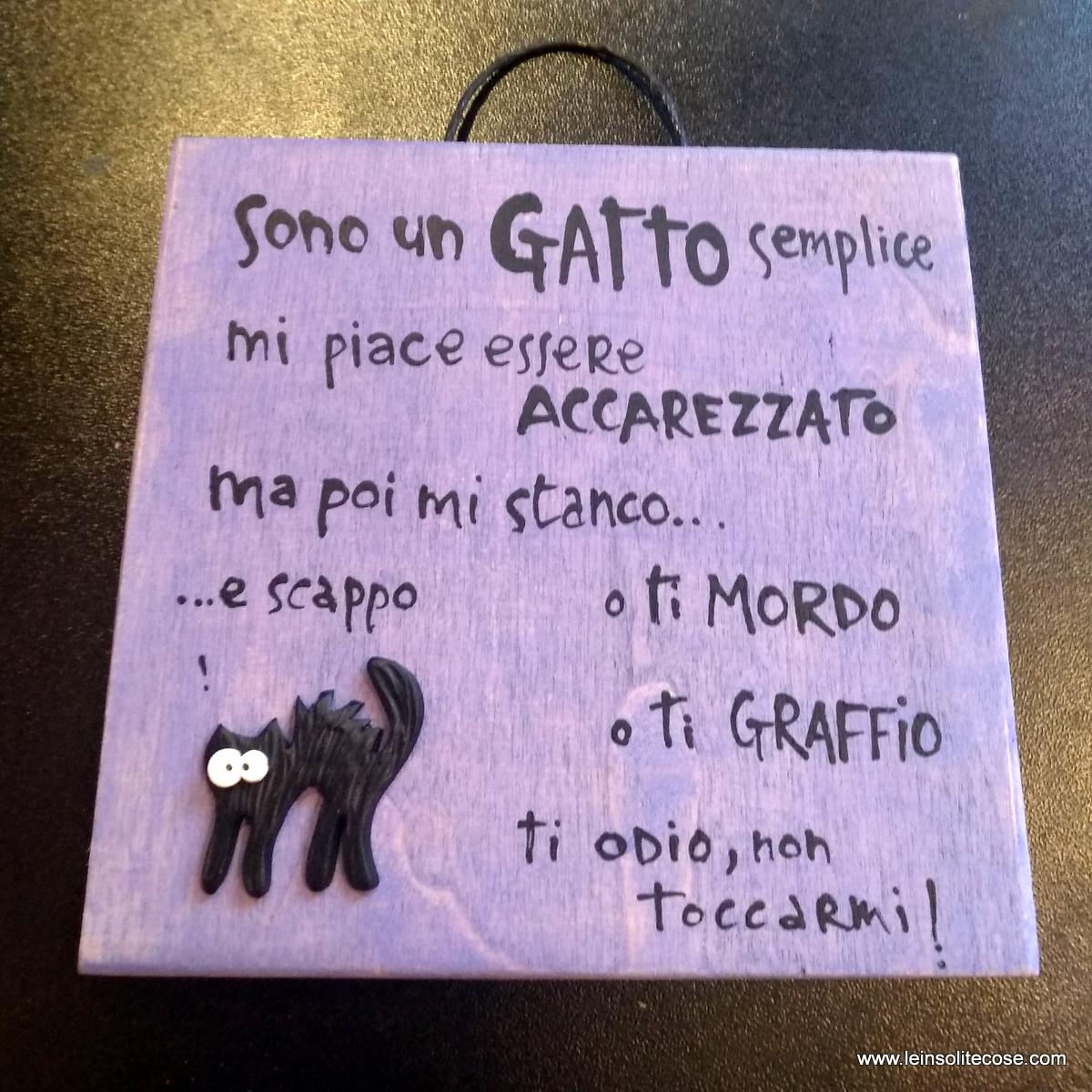 dubbifelini Tavolette e Calamite con Gatti Neri e frasi simpatiche