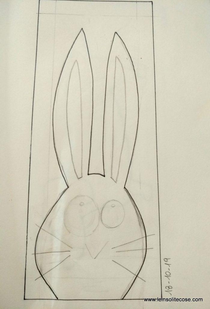 Disegno preparatorio del Coniglietto INsolito