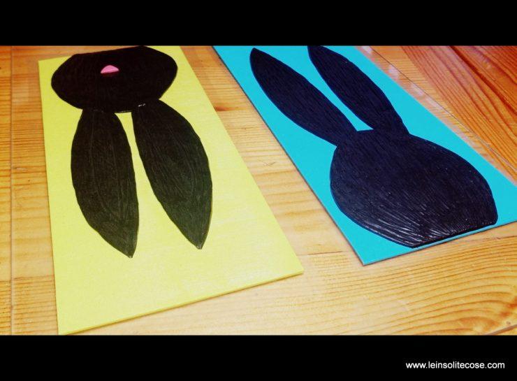 Una fase della realizzazione dei Coniglietti INsoliti