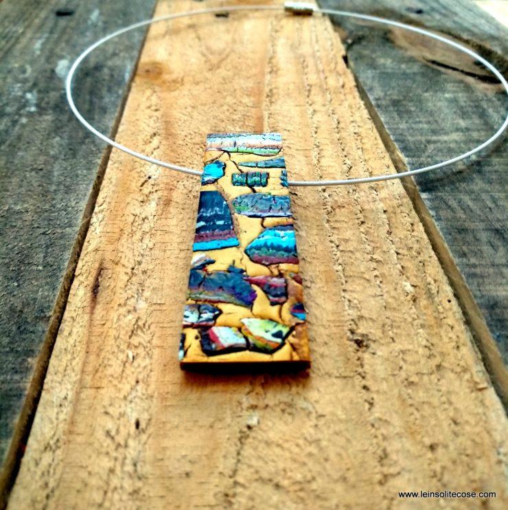 Ciondoli stratificazioni su oro. In pasta polimerica fatta a mano. Le INsolite Cose